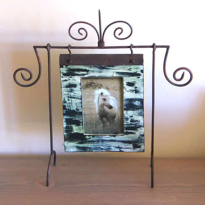 Weathered Looking Hanging Picture Frame Wrought iron table top frame ...