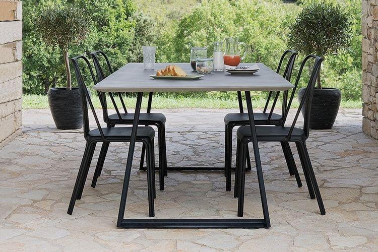 Un table de jardin Jardiland effet ciment | Terrasse | Pinterest