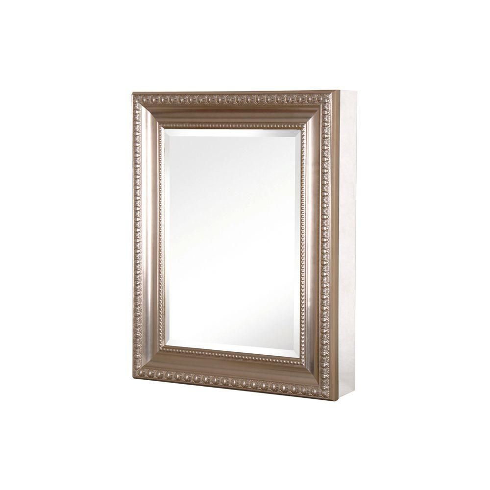 pegasus 20 in w x 26 in h framed recessed or surface mount rh pinterest com Brushed Nickel Bathroom Space Saver Kohler Recessed Mirrored Medicine Cabinets