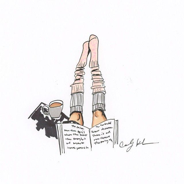 Carly Kuhn illustration. Pretending it's still Sunday. ☕️. (Previous Inspiration from @uoatlanta)