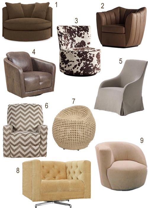 Get The Look Upholstered Swivel Chairs In Every Color Stylecarrot Upholstered Swivel Chairs Swivel Chair Round Swivel Chair #round #swivel #chairs #for #living #room
