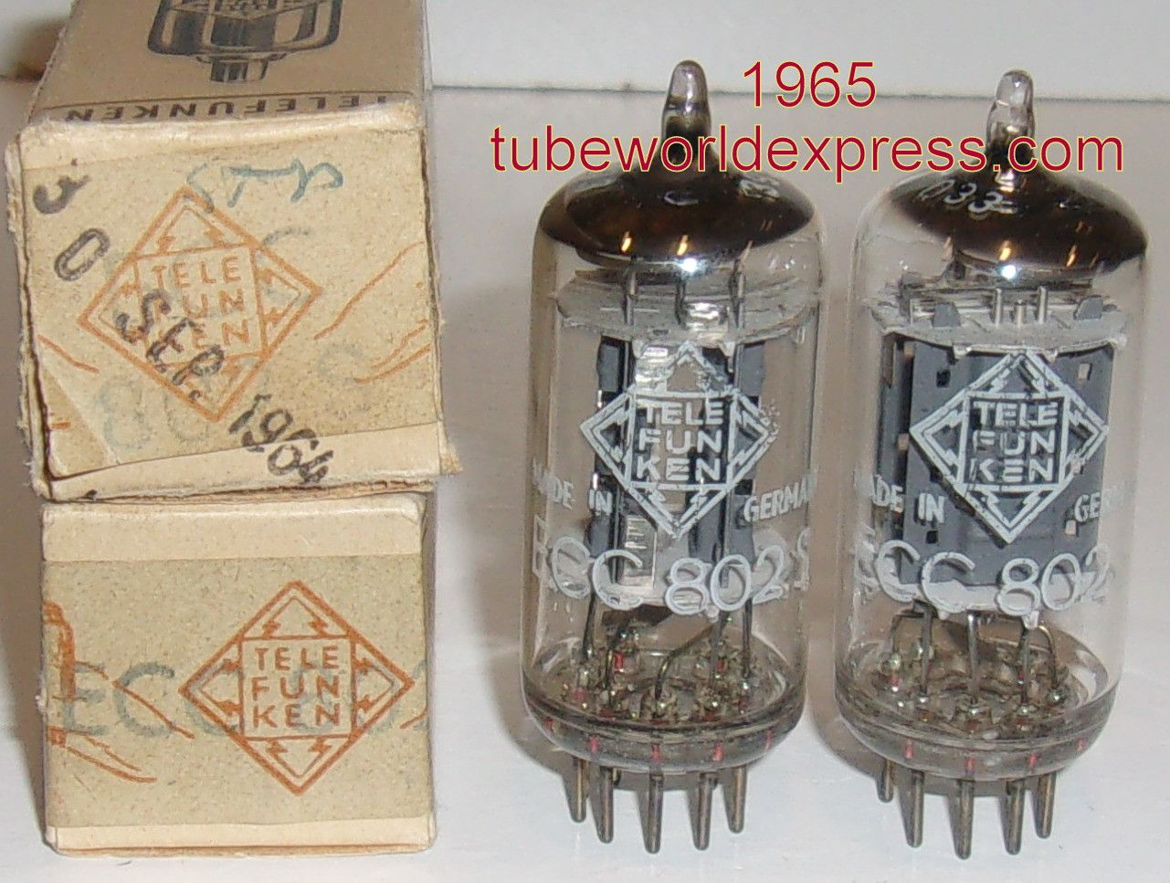 1 12au7 Pair Ecc802s 12au7 Telefunken Germany Lt Gt Bottom Pairs Stuff To Buy Vacuum Tube