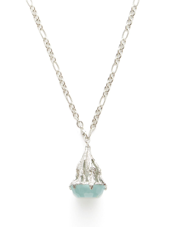 Aquamarine Bell Pendant Necklace by Nina Runsdorf at Gilt