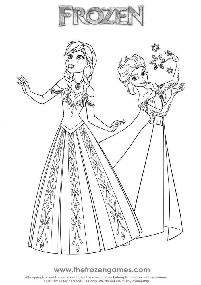 Two Princesses Of Arendelle Frozen Games Elsa Coloring Pages Disney Princess Coloring Pages Princess Coloring Pages