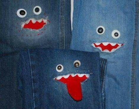 Pin von Marlene Duarte auf gangas   Pinterest   Jeans flicken ...