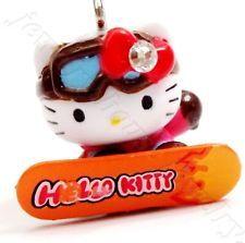 Hello Kitty Love Skiing Swarovski Elements Crystal Japan Limited Pendant Charm