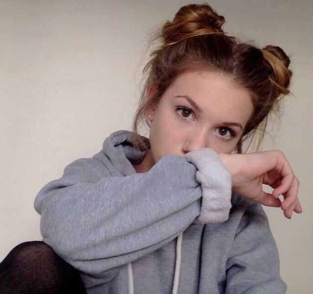Cute two bun hair