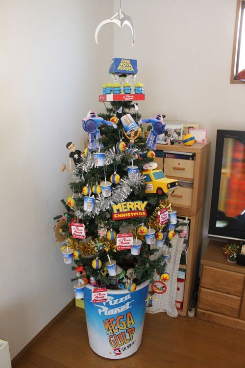Amazing Pixar S Toy Story Themed Christmas Tree Christmas Toy Story Christmas Tree Toy Christmas Tree Themes