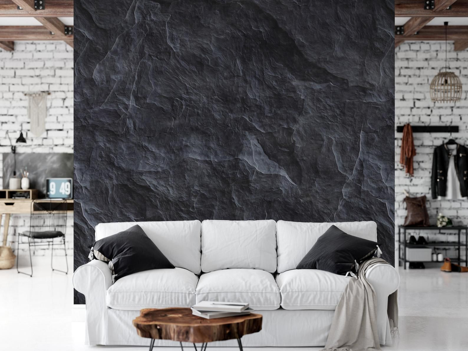 Black Marble Wallpaper Peel And Stick Marble Wallpaper Precious Marble Mural Living Room Mural Marble Scandinavian Black Stone Marble Wall Mural Marble Wallpaper Living Room Bedroom