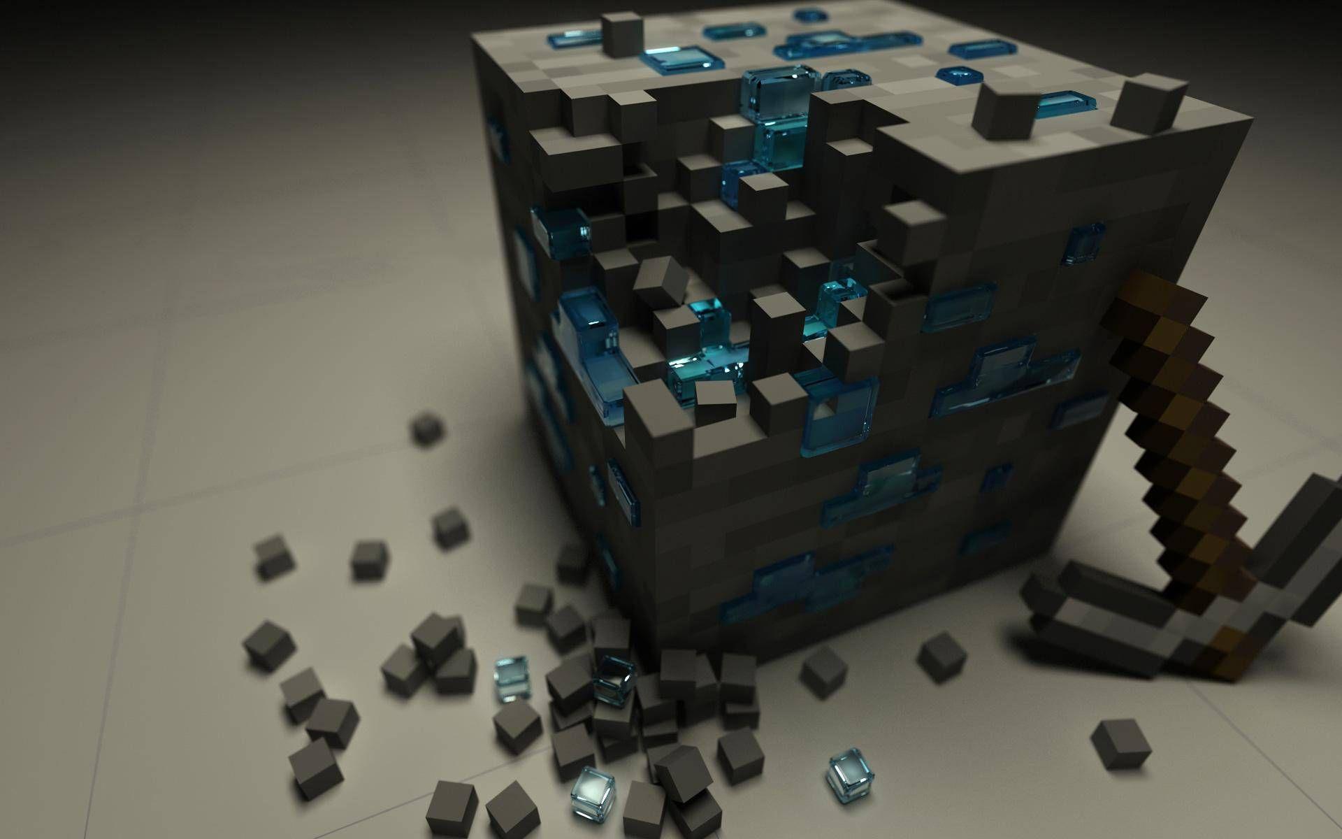 Minecraft Wallpapers Minecraft Wallpaper Minecraft Broken Glass Wallpaper