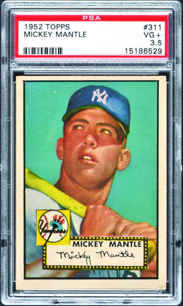 1952 Topps 311 Mickey Mantle Rookie Hof Yankees Psa 35 Mickey