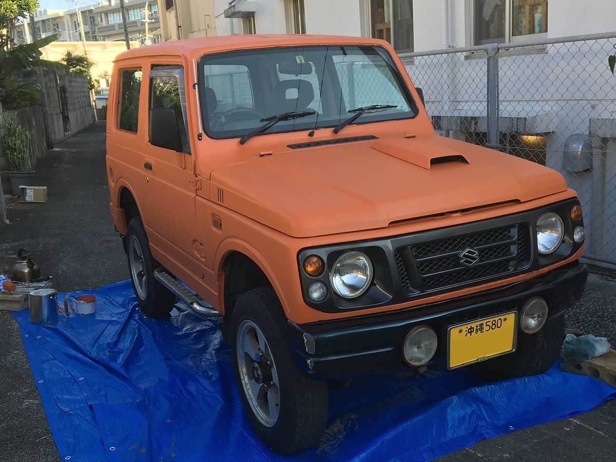 ジムニーをセレンゲッティオレンジに刷毛塗り全塗装 刷毛 ハケ ローラーで車をdiyで全塗装しよう ジムニー 車 スズキ ジムニー