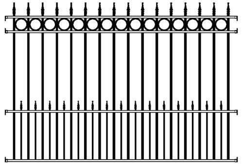 Best Concord Wrought Iron Fence Panel 4 Rail Concord Deluxe 400 x 300