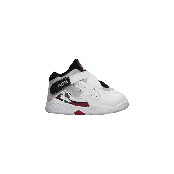 52531b90736 Toddler's Air Jordan 8 Retro (White-Black-True/Red) ($42) ❤ liked on Polyvore  featuring baby clothes, kids and kids shoes