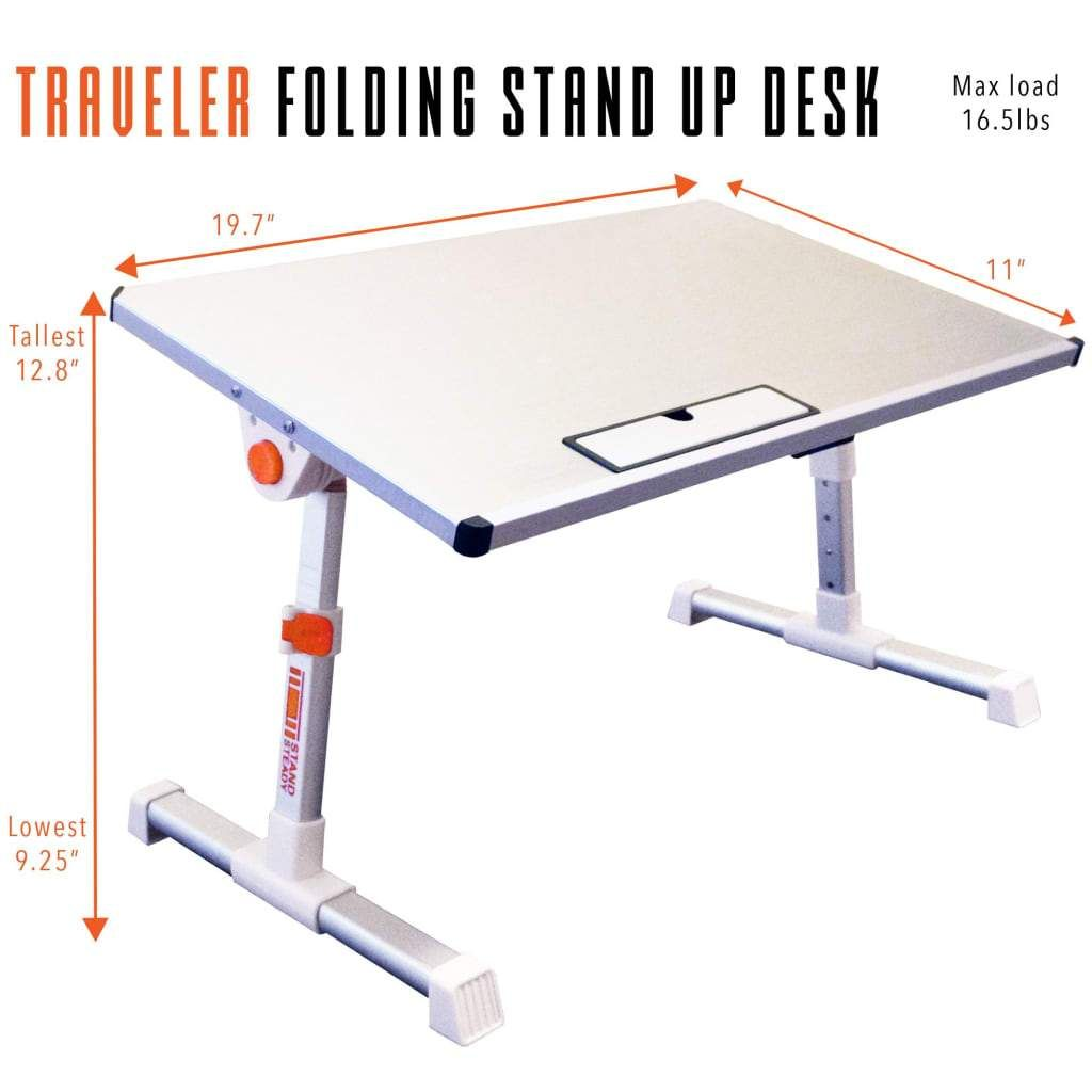 Pleasant Traveler Folding Portable Standing Desk Converter Small Home Remodeling Inspirations Propsscottssportslandcom