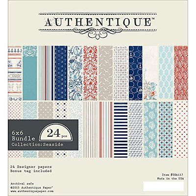 #Authentique #paper bundle cardstock pad 6-inch x 6-inch #2-seaside new,  View more on the LINK: 	http://www.zeppy.io/product/gb/2/152114099126/
