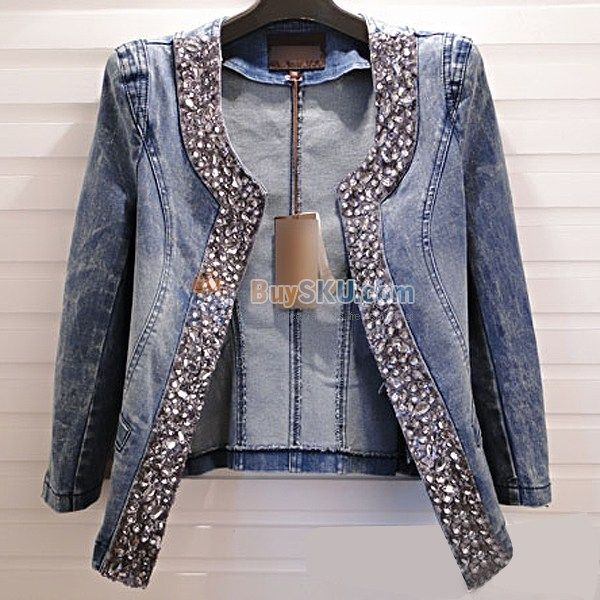 womens fitted denim jacket jacketin