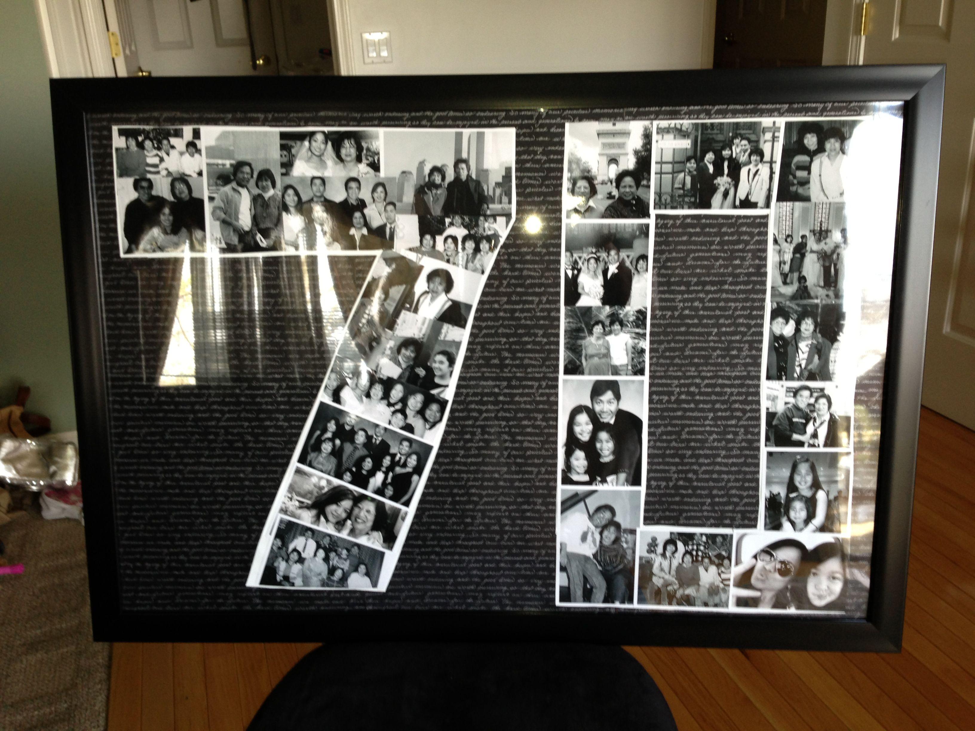 Mom S 70 Th Birthday Colliage 70th Birthday Ideas For