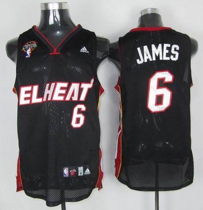 pretty nice 1d4c4 10a15 Adidas NBA Miami EL Heat 6 LeBron James Swingman Black Latin ...