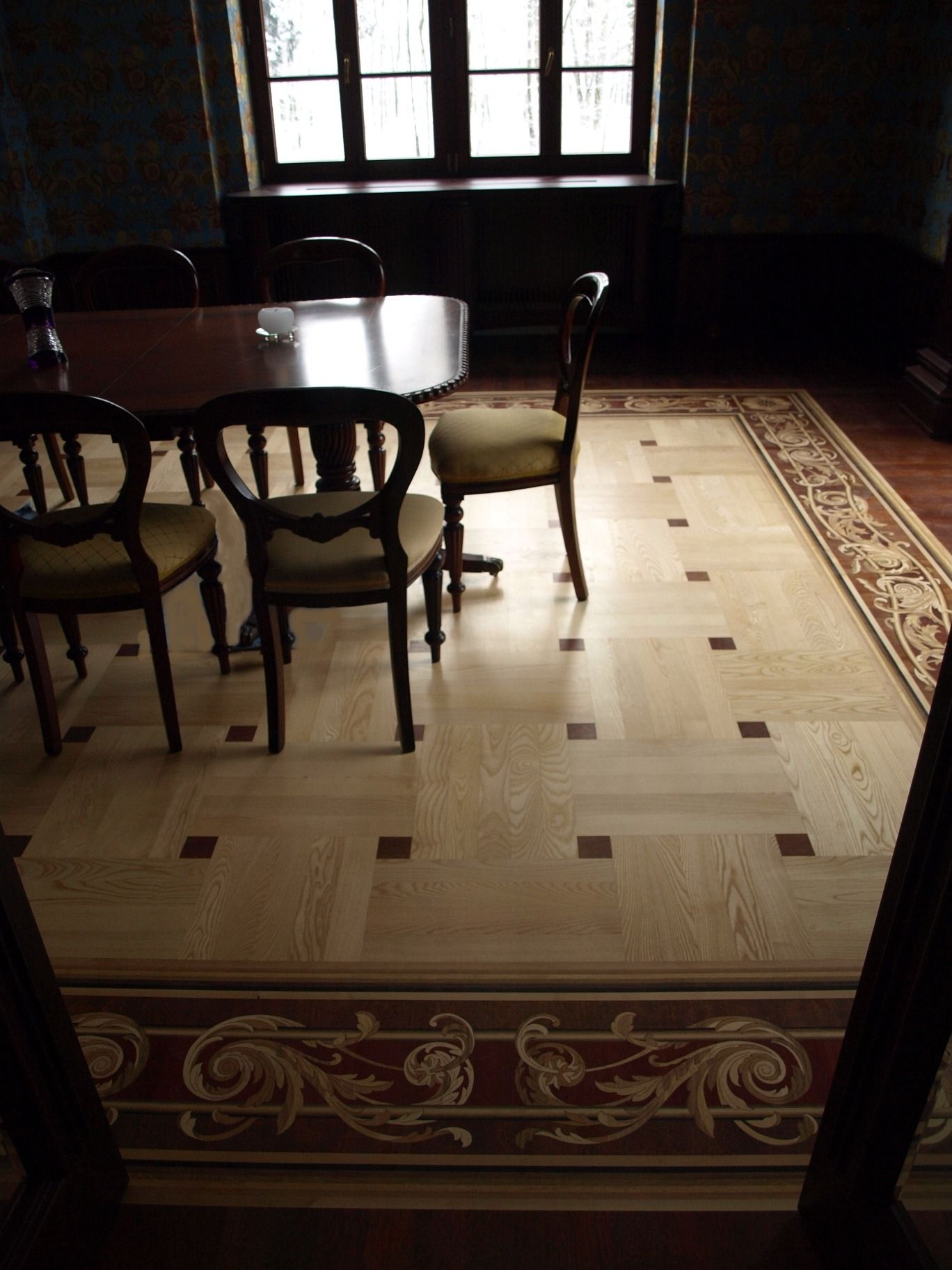 Custom Parquet And Border Design By Renaissance Floor Inlays