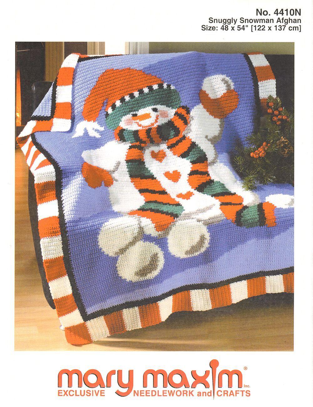Snuggly Snowman Afghan Pattern | Crochet | Afghan patterns, Pattern