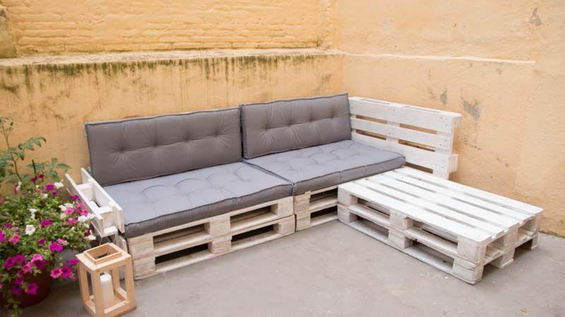 Cómo Hacer Un Sofá De Palets Para La Terraza Sofas Con Palets Como Hacer Un Sofa Muebles Con Palets Reciclados