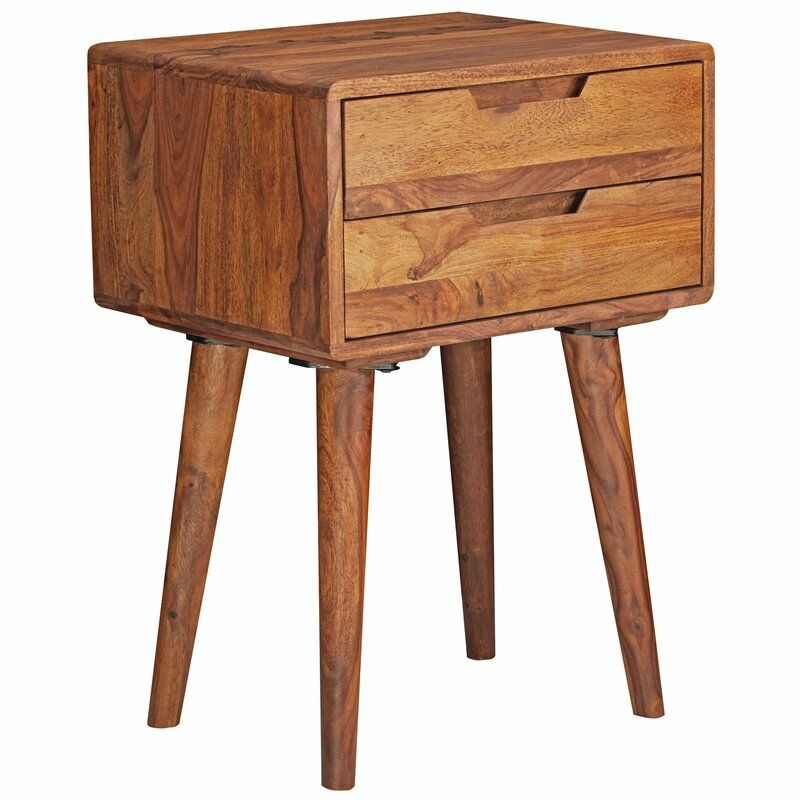 Daxton 2 Drawer Bedside Table In 2020 Table Upholstered