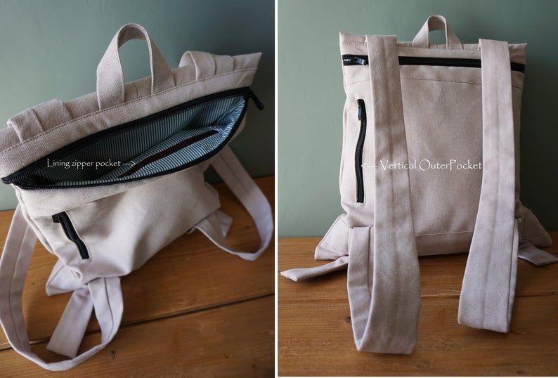 Convertible Rucksack Designer Messenger Bag Beige Wasserdichte Etsy Designer Messenger Bags Bags Stylish Bag