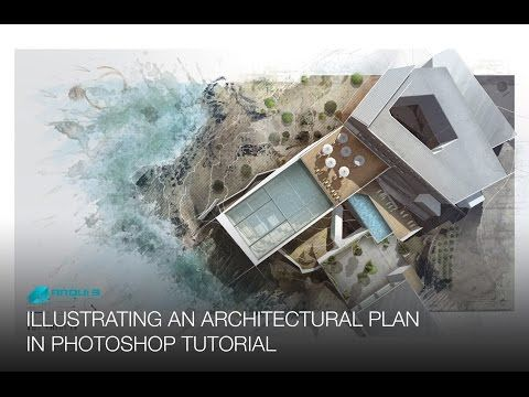 Illustrating An Architectural Plan In Photoshop Narrated Full