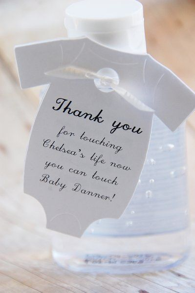Hand Sanitizer Baby Shower Gift Tags ~ Thank You For Touching My Life Now  You Can