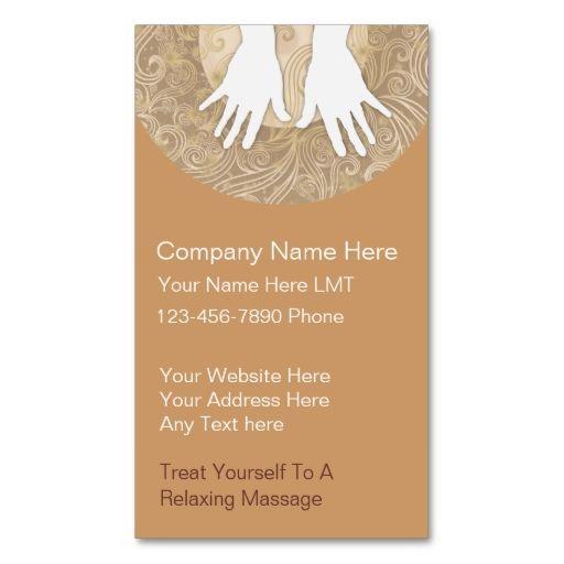 Massage business cards massage pinterest massage business massage business cards wajeb Images