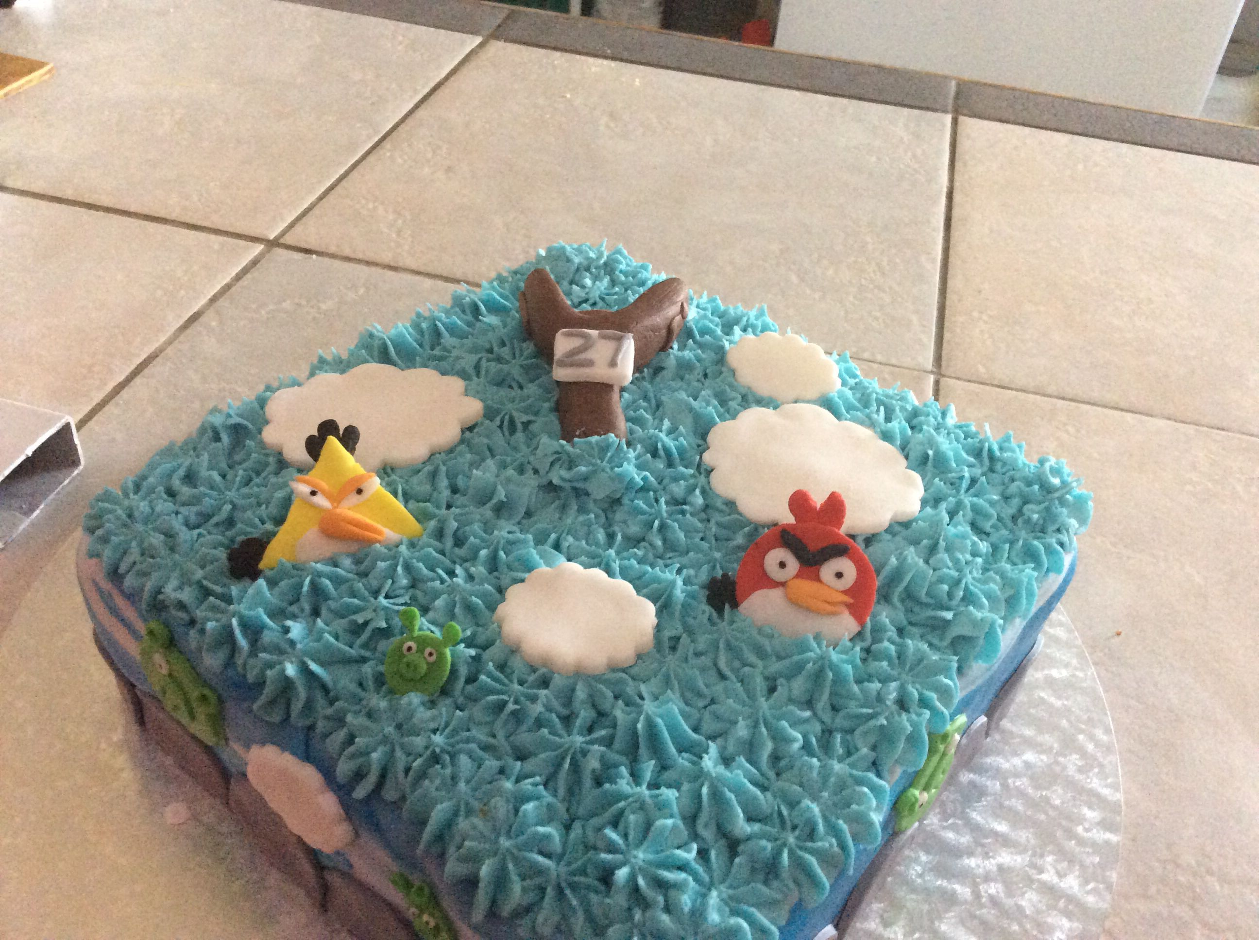 Angry Birds Themed Cake