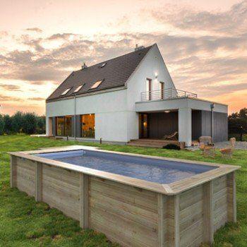 piscine hors sol bois urbaine proswell by procopi x x m - Piscine Leroy Merlin Hors Sol Bois