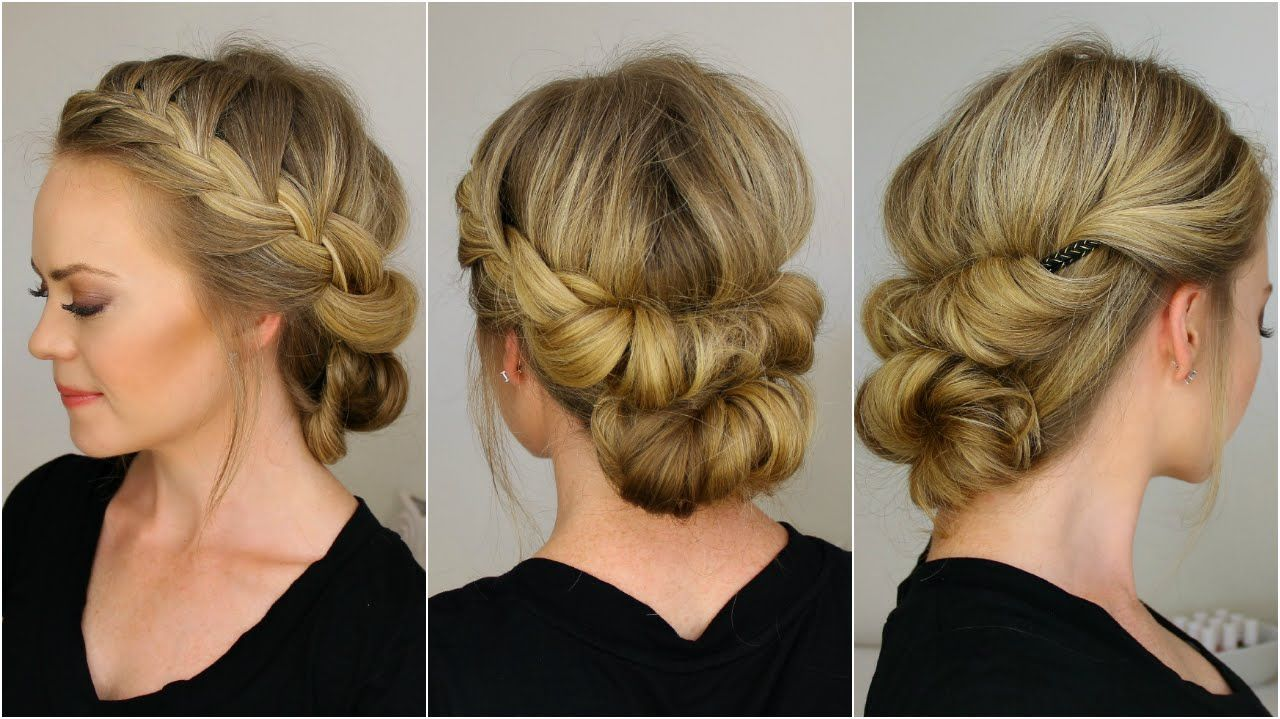 Ashley Check Out This Girls Youtube Channel She Has Tons Of Diy Hairstyles That Incorporate Braids And They Look Re Hair Styles Diy Hairstyles Bridesmaid Hair
