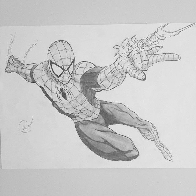 Art Charcoal Charcoaldrawing Marvel Spiderman Hero Draw