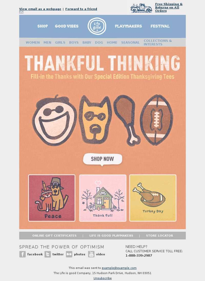 Life Is Good Thanksgiving Email Thanksgiving Emails Pinterest