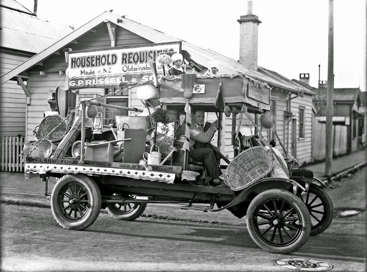 Model T Ford Forum Old Photo General Store Model Tt Parade Float In New Zealand Model T Old Photos Antique Trucks