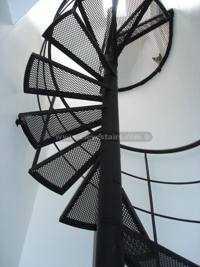 Special Circular Stairs, Spiral Stair, Eleve, Metalic, Wood, Kit Industrial  Spiral