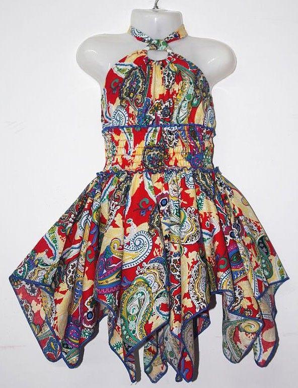 LL182-14-20 Girls 2-8 Cotton Dress