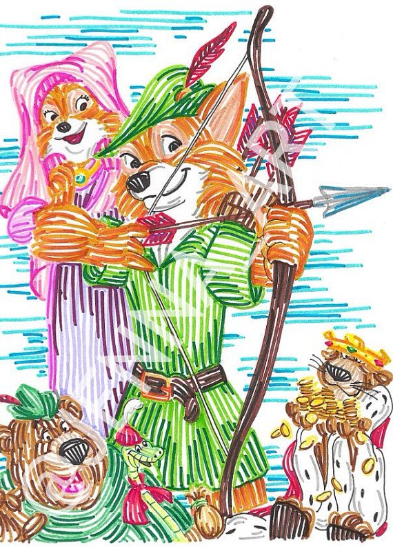 Robin Hood line art