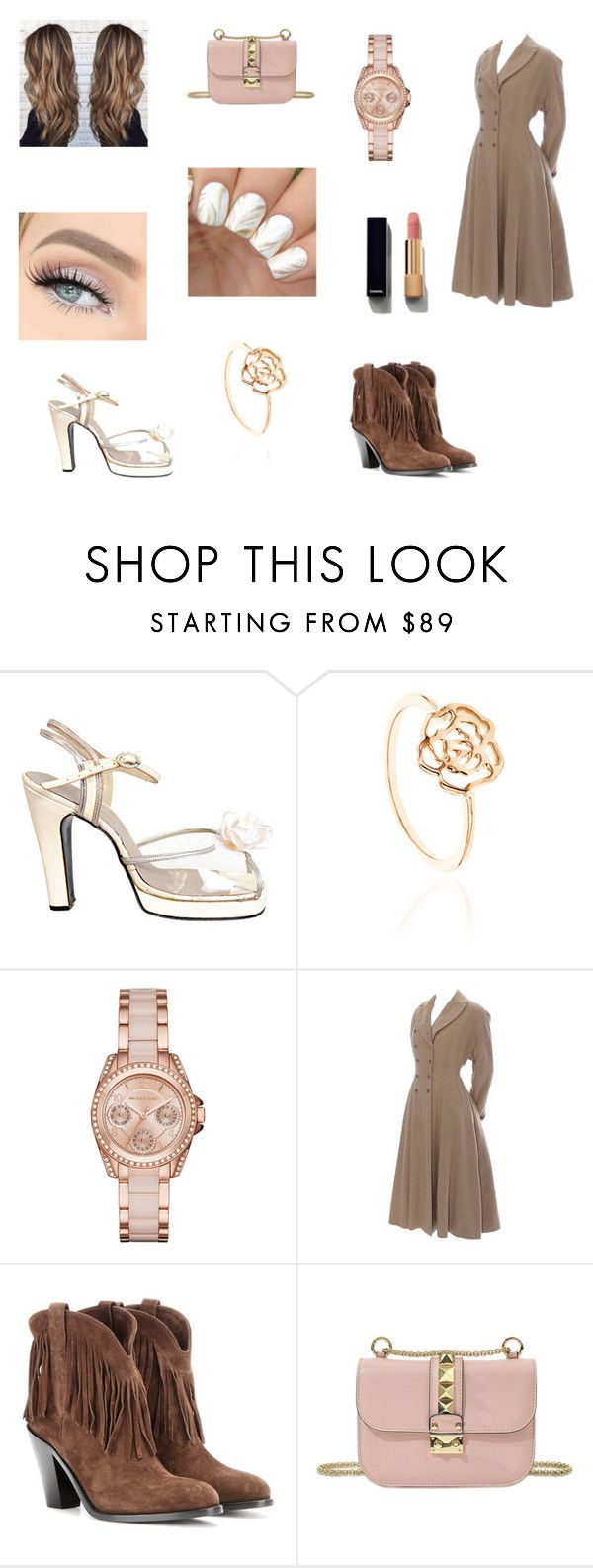 """""""Spring Pastel Delight"""" by alyssawong2016 ❤ liked on Polyvore featuring Terry de Havilland, Michael Kors, Yves Saint Laurent, Valentino and Chanel"""