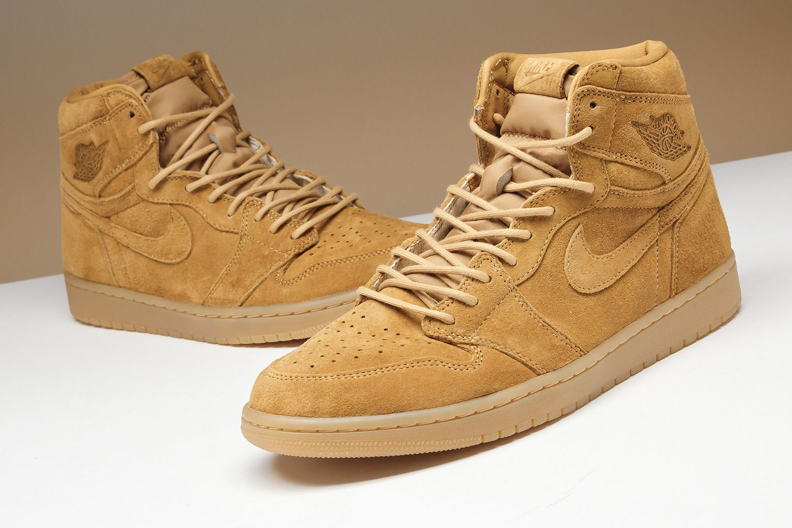 Air Jordan 1 Retro High Og Wheat 555088 710 With Images