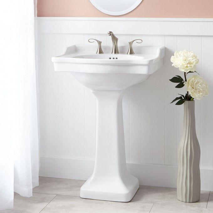 Bathroom Design Centers New Cierra Porcelain Pedestal Sink  Pedestal Sink Sinks And Powder Room Design Inspiration