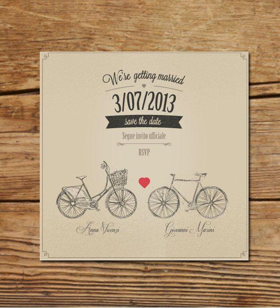 Partecipazioni Matrimonio Bicicletta.Save The Date Ricorda La Data Nozze E Idee Per Matrimoni