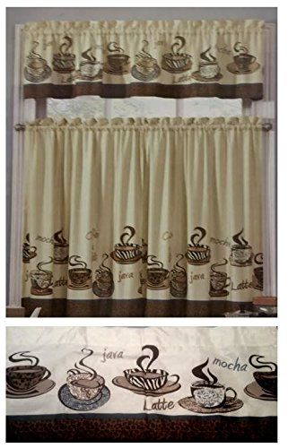 Coffee Beans Java Cups Kitchen Window Curtain Interiors Http Www