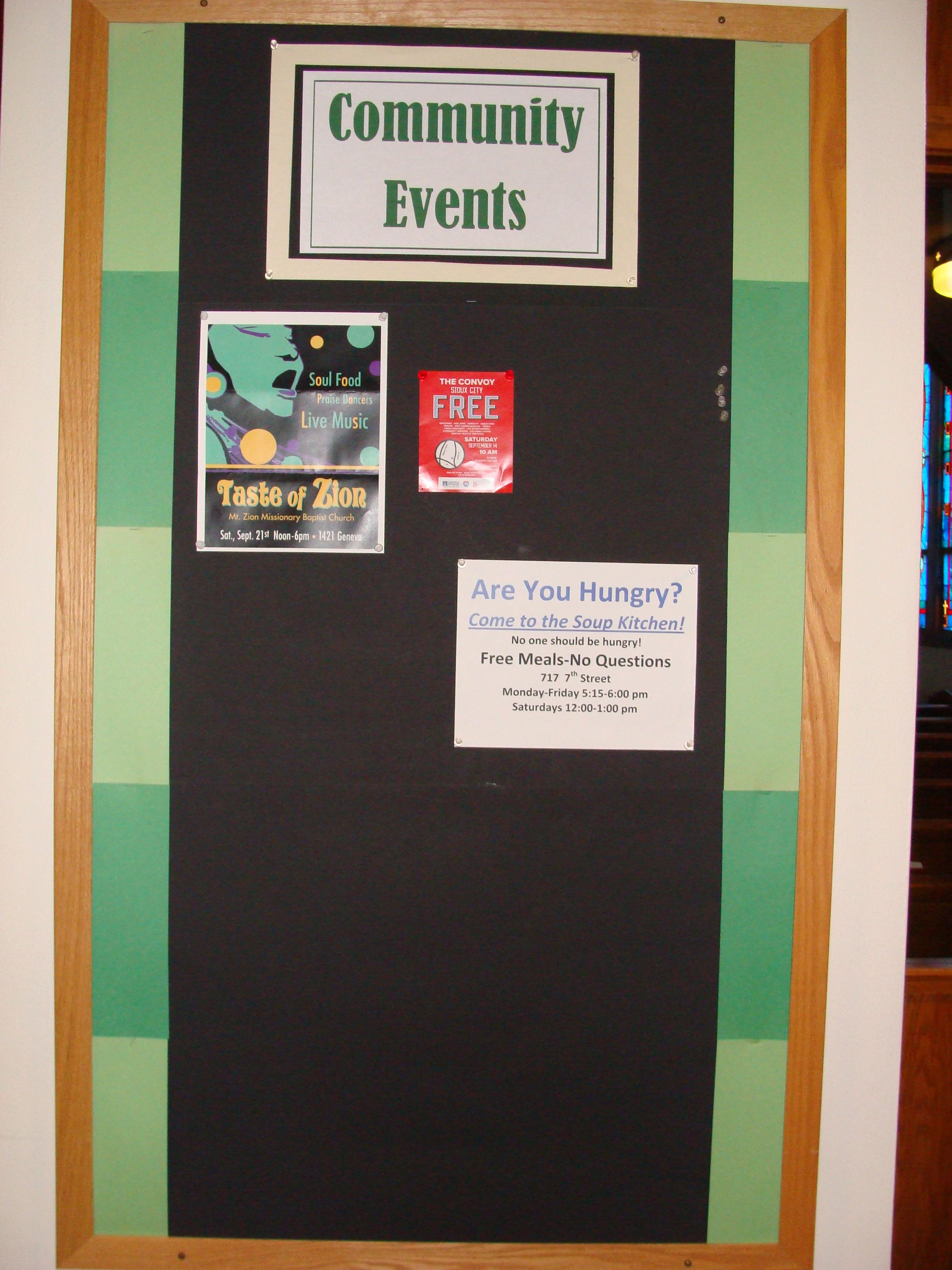 bulletin board for community events and programs - Kitchen Bulletin Board Ideas