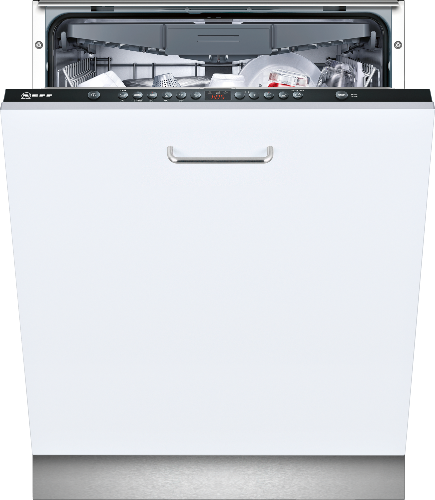 Neff S513k60x1g Fully Integrated Black Dishwasher Integrated