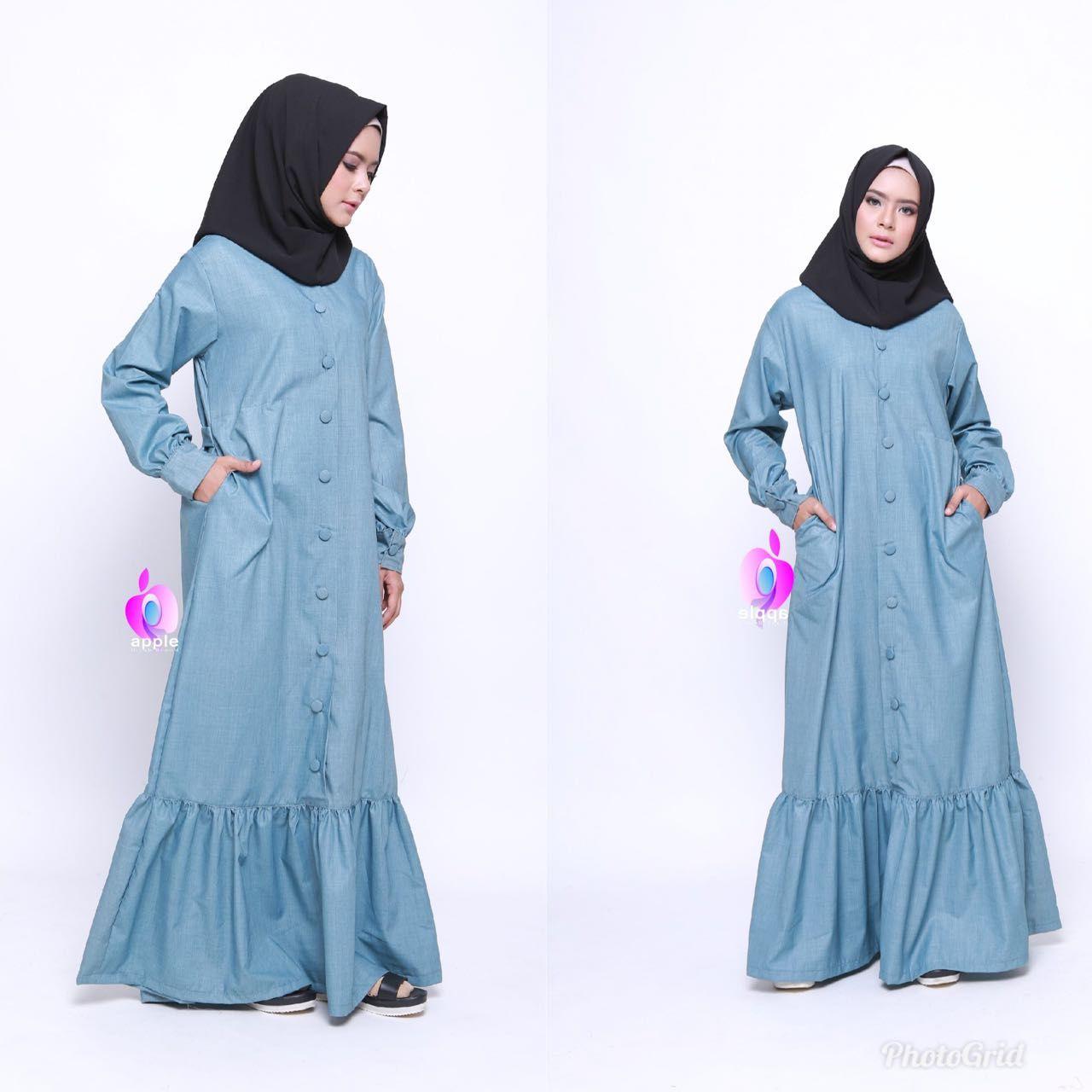 Model Gamis Rempel Bawah Terbaru di 8  Model, Baju muslim, Pakaian