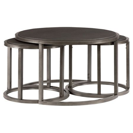 You Should See This Rotation 3 Piece Coffee Table Nesting Stool