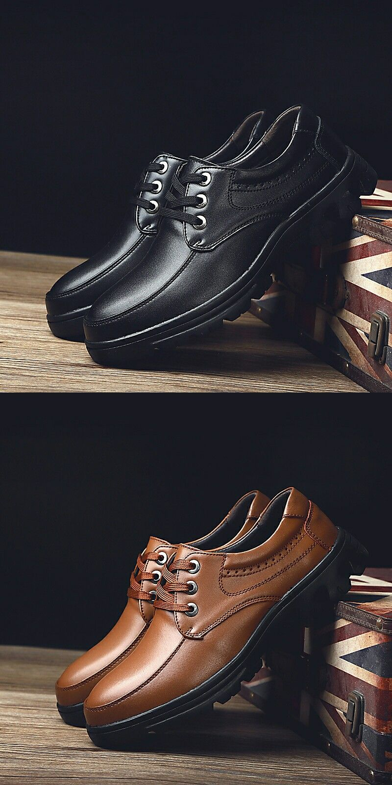 9bb2c619305 US  32.8 Prelesty Big Size Men Formal Shoes Gentleman Oxford Brogue Party  Lace Up Design High